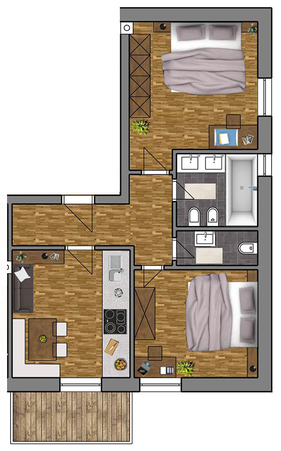 Room Plan Apartment 1