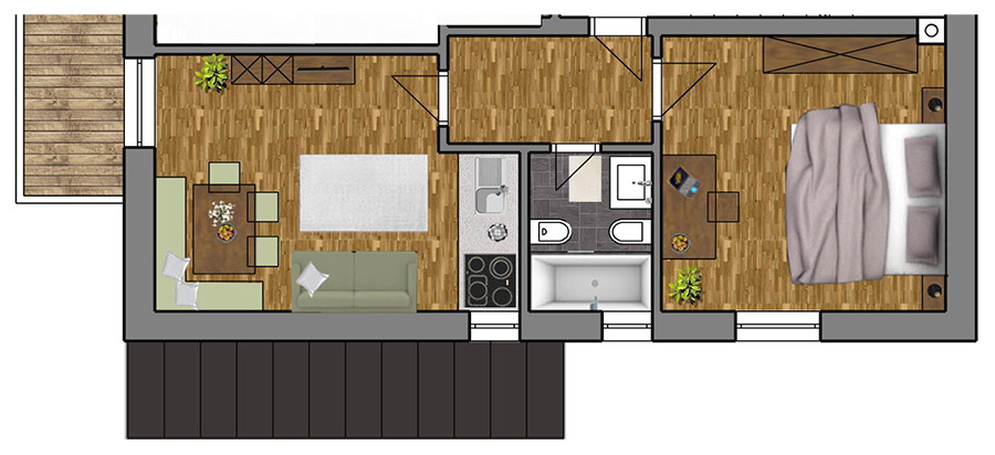 Room Plan Apartment 3