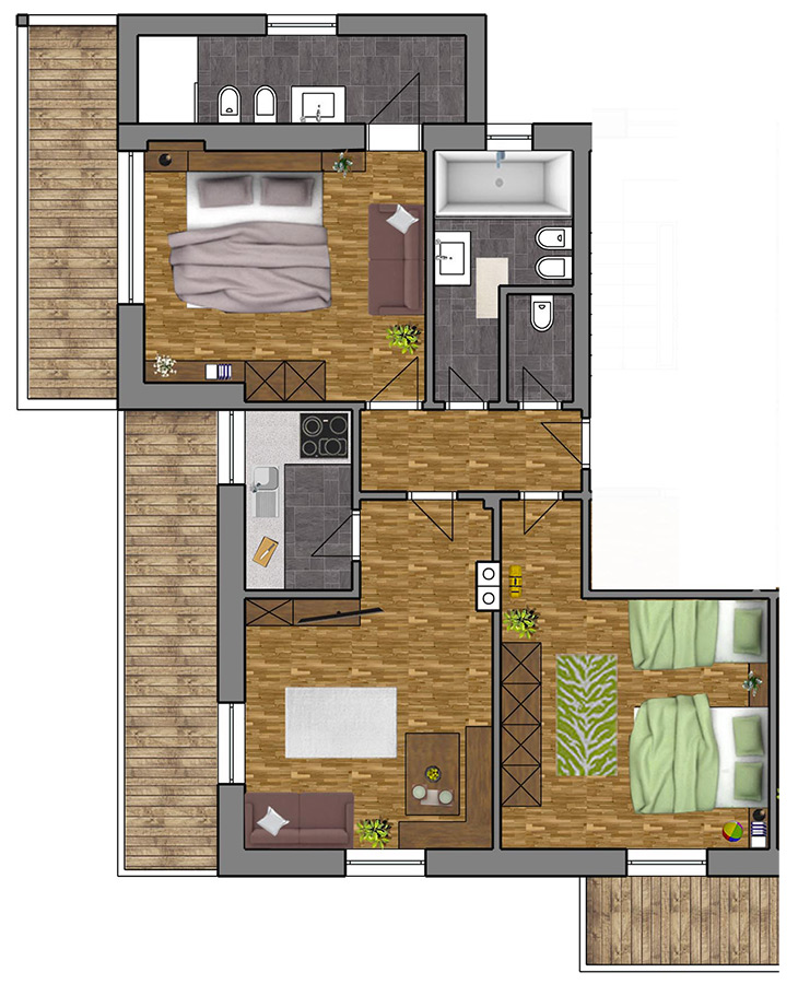 Room Plan Apartment 4