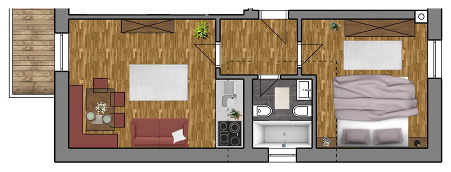 Room Plan Apartment 5