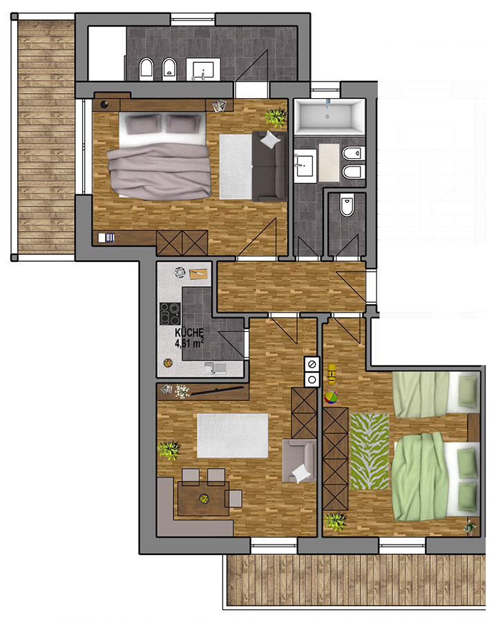 Room Plan Apartment 6