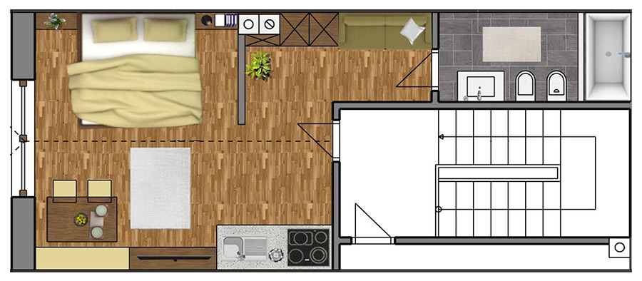 Room Plan Apartment 7
